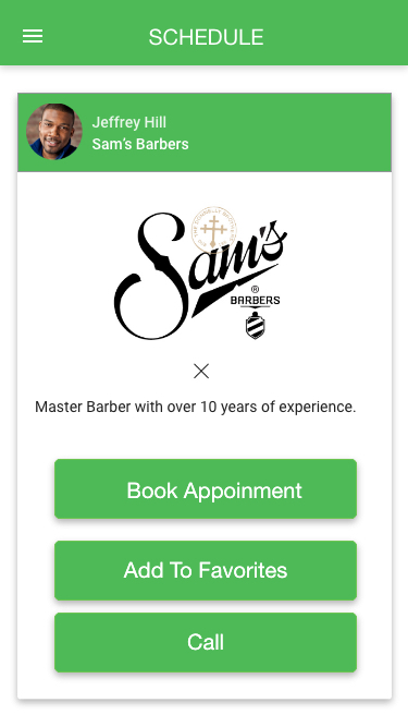 Book'd app barber view