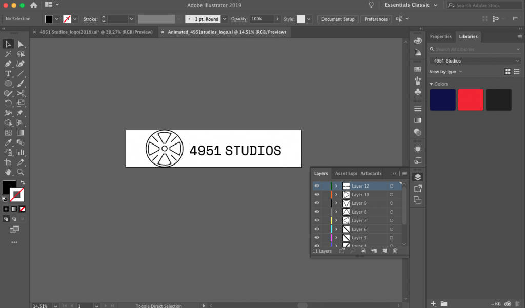 Image is divided into separate layers in Illustrator